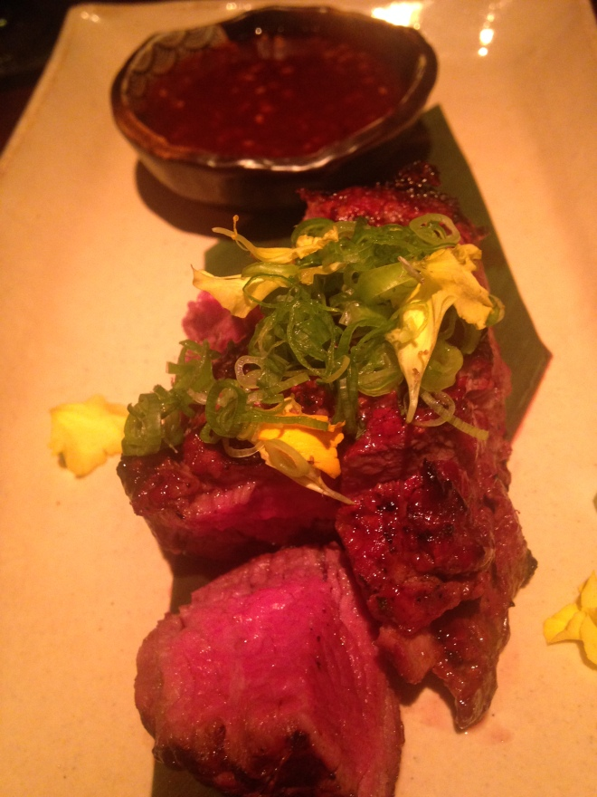 Prime Beef Filet (8oz) with Chili Ginger Sauce