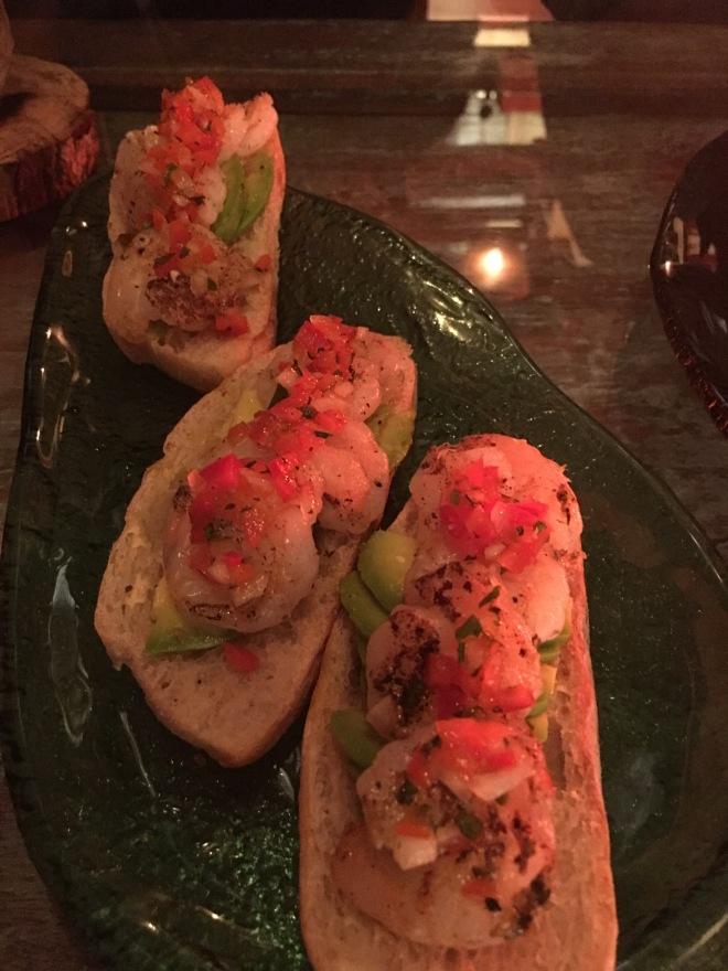 C Huerta Shrimp bread